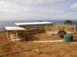 Pitcairn Island, Building Big Flower - framed