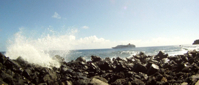 Pitcairn Island, Big Flower - The Cruise Ship Arrives