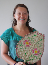 Pitcairn Island, Big Flower - Zara's woven fan