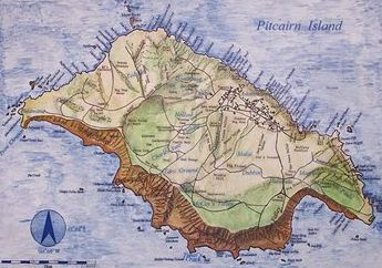 Map of Pitcairn Island