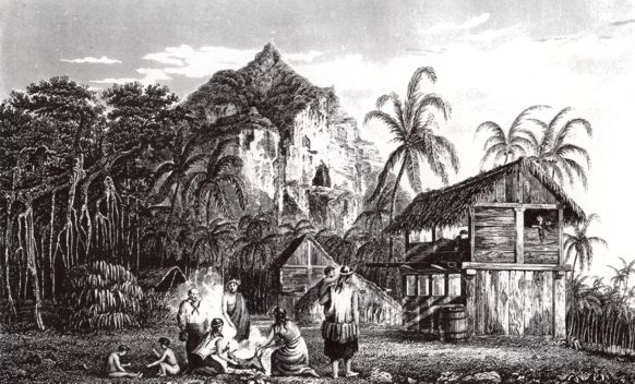 Pitcairn village early 1800's