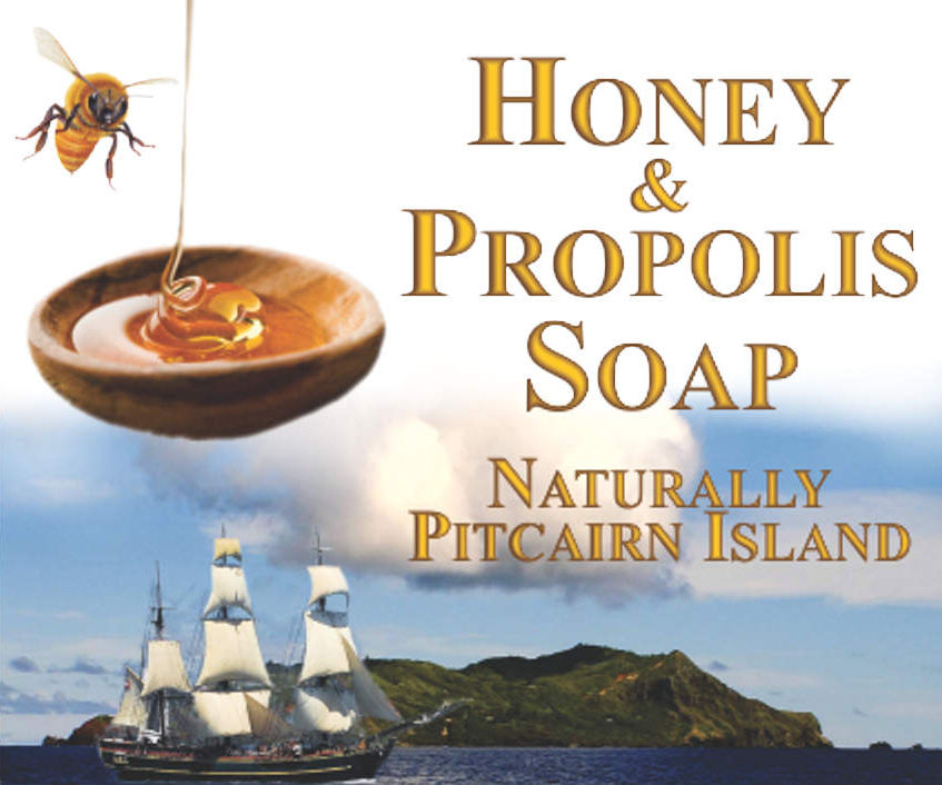 Pitcairn Island, Big Flower - Honey Propolis Soap